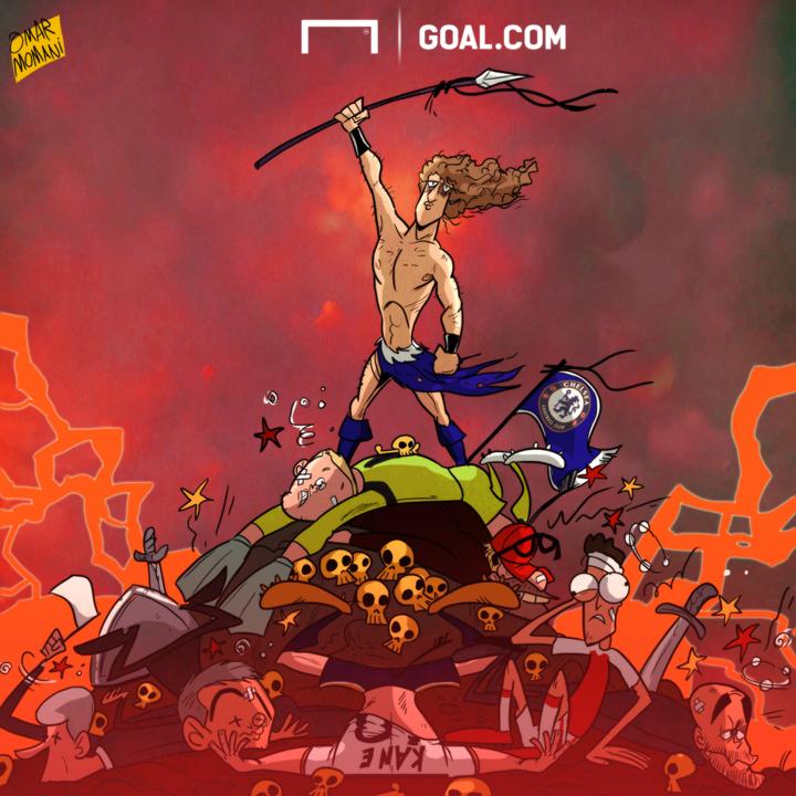 Cartoon David Luiz Liverpool Chelsea 01/02/2017
