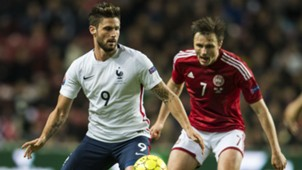 Olivier Giroud William Kvist Denmark France Friendly 11102015