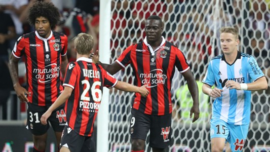 Mario Balotelli Vincent Koziello Nice Marseille Ligue 1 11092016