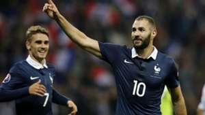 Antoine Griezmann Karim Benzema France Armenia Friendly 08102015