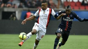 Hervin Ongenda Alassane Plea Paris SG Nice Ligue 1 02042016