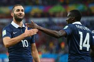 Karim Benzema Blaise Matuidi France Honduras FIFA World Cup 2014 06152014
