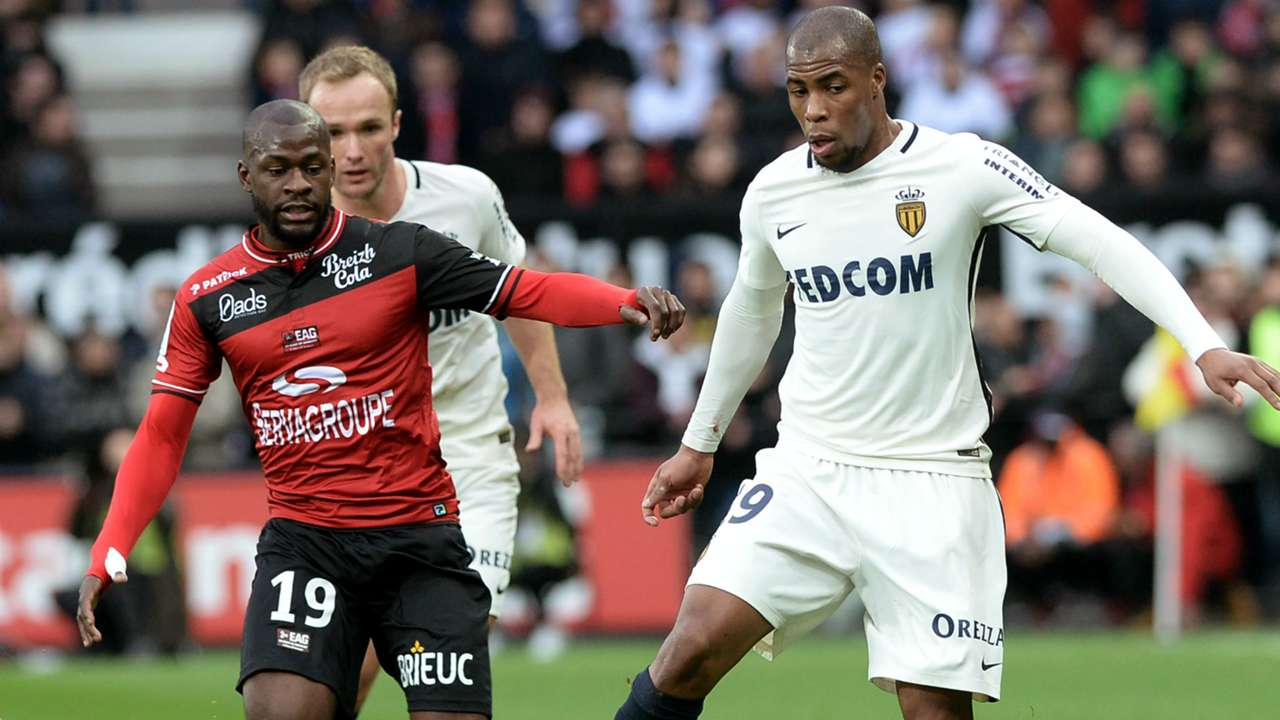 Djibril Sidibe Yannis Salibur Guingamp Monaco Ligue 1 25022017