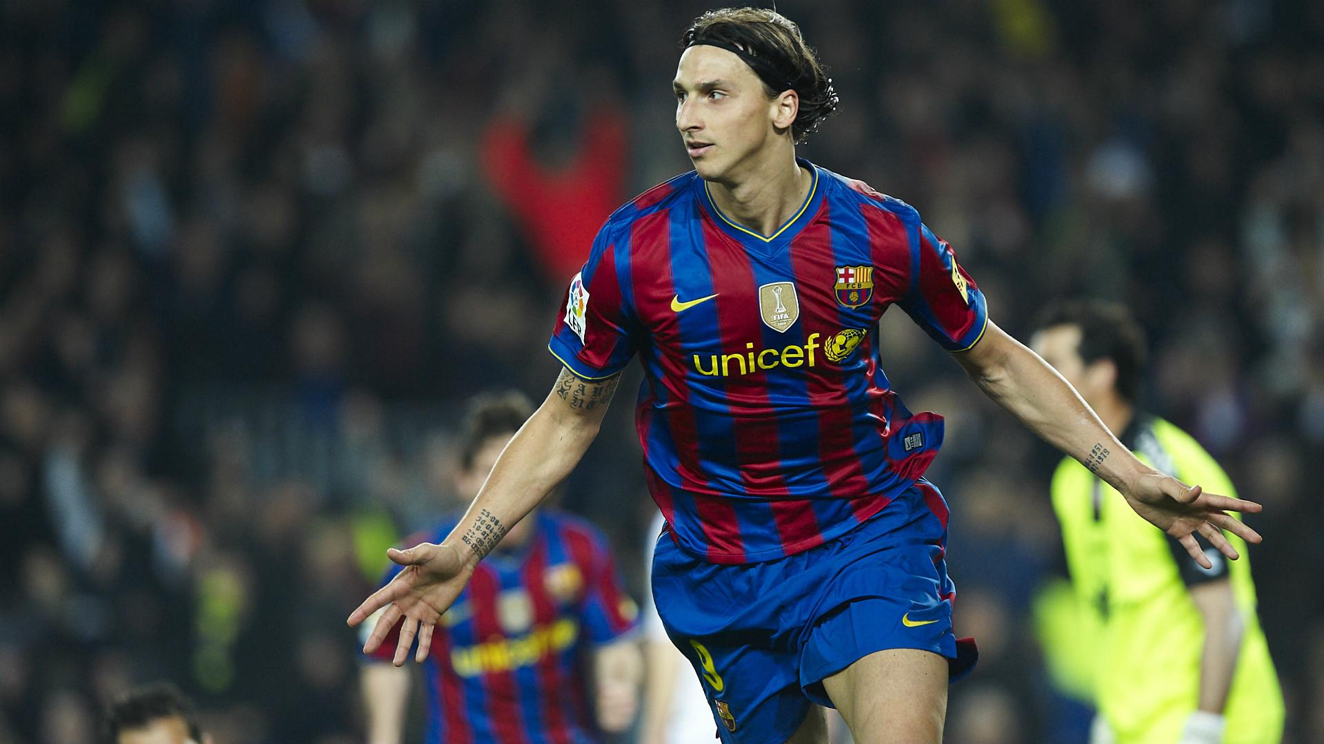 Zlatan Ibrahimovic Barcelona  Osasuna 24032010