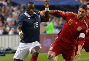 Moussa Sissoko Sergio Ramos France Spain Friendly 04092014