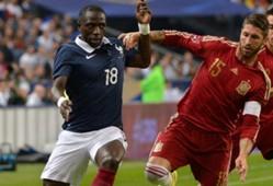 Moussa Sissoko Sergio Ramos France Spain Friendly 04092014