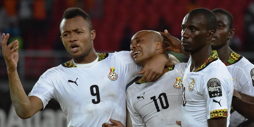 Jordan Ayew, Andre Ayew Ghana Ivory Coast Afcon final