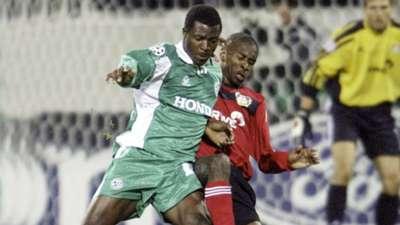 Yakubu of Maccabi Haifa & Juan of Bayer Leverkusen