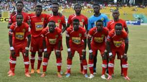Asante Kotoko line-up vs. Hearts of Oak