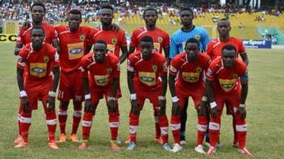 Asante Kotoko line-up vs. Hearts of Oak