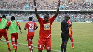 Asante Kotoko players celebrate vs. Hearts of Oak