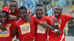 Asante Kotoko players celebrating
