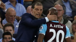 Slaven Bilic and Andre Ayew of West Ham