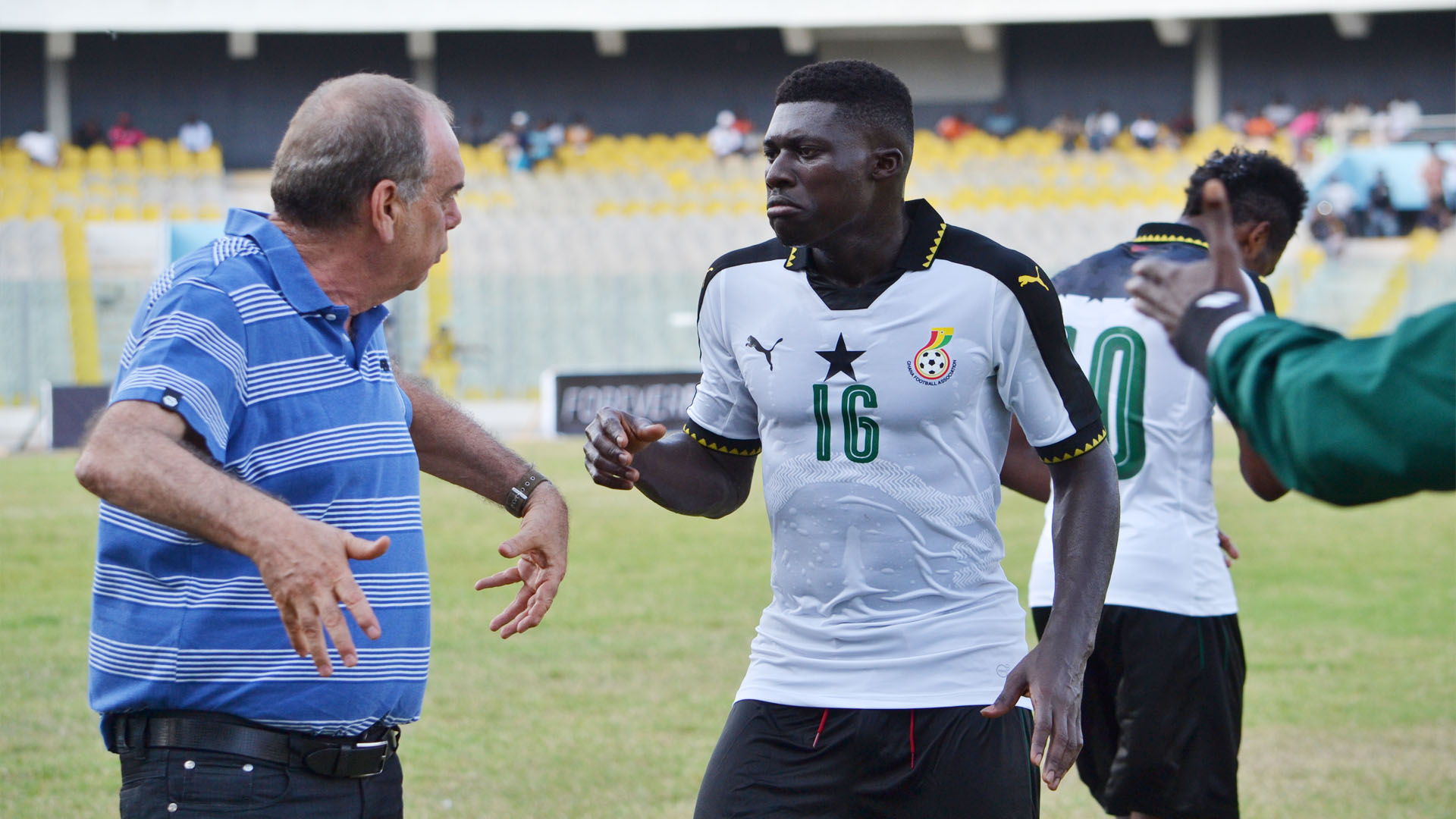 Avram Grant and Alfred Duncan of Ghana