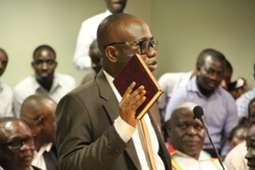 Kwesi Nyantakyi swearing in