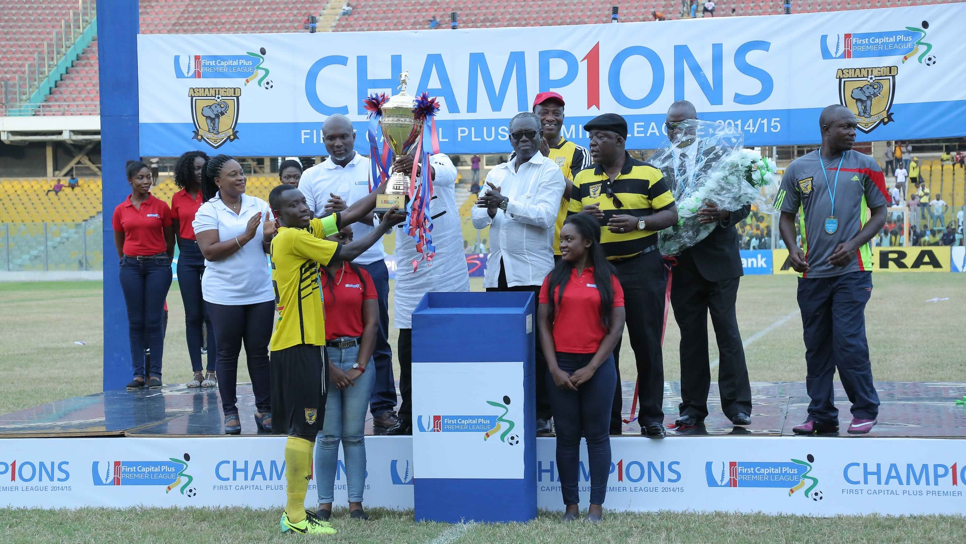 Ghana Premier League trophy presented to Ashanti Gold