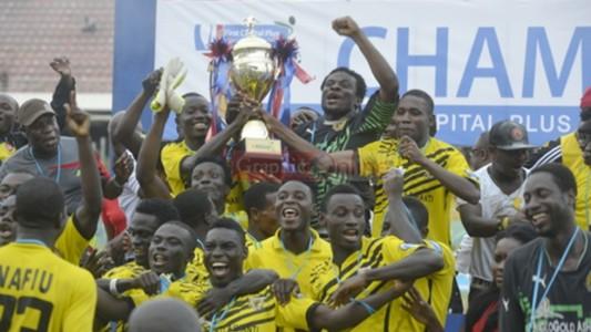 Ashanti Gold celebrate