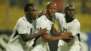 Michael Essien, Junior Agogo & Quincy Owusu-Abeyie of Ghana
