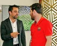 Xavi Hernandez meets Messi in Doha - 13/12/2016