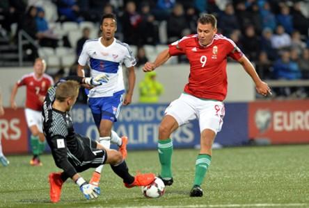 Szalai Ádám at Faroe Islands vs Hungary