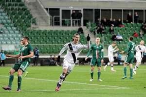 Aleksandar Prijovic celebrates a goal at Slask Wroclaw 0-4 Legia Warszawa