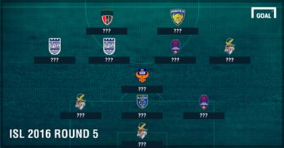 Indian Super League 2016 Team of Round 5
