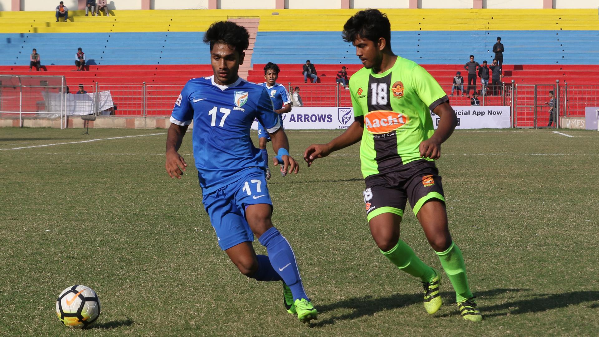 Rahul Kannooly Balan Santu Singh Indian Arrows Gokulam FC I-League 2017/2018