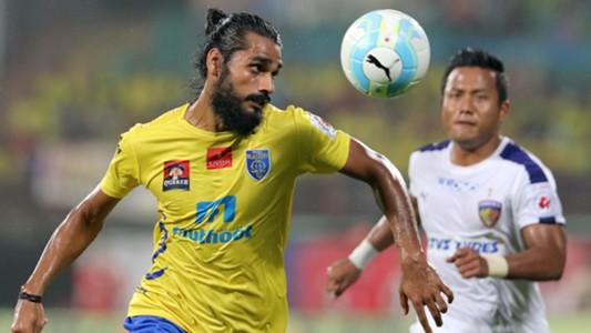 Sandesh Jhingan Kerala Blasters FC Chennaiyin FC ISL season 3 2016