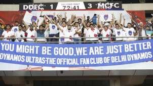 Delhi Dynamos FC Fans during match against Mumbai City FC ISL season 3 2016