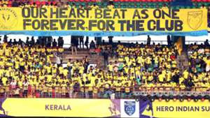 Supporters during Kerala Blasters FC ATK ISL Season 4 2017/2018
