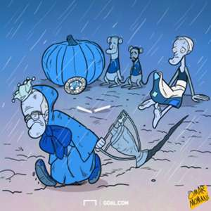Cartoon Leicester sack Ranieri