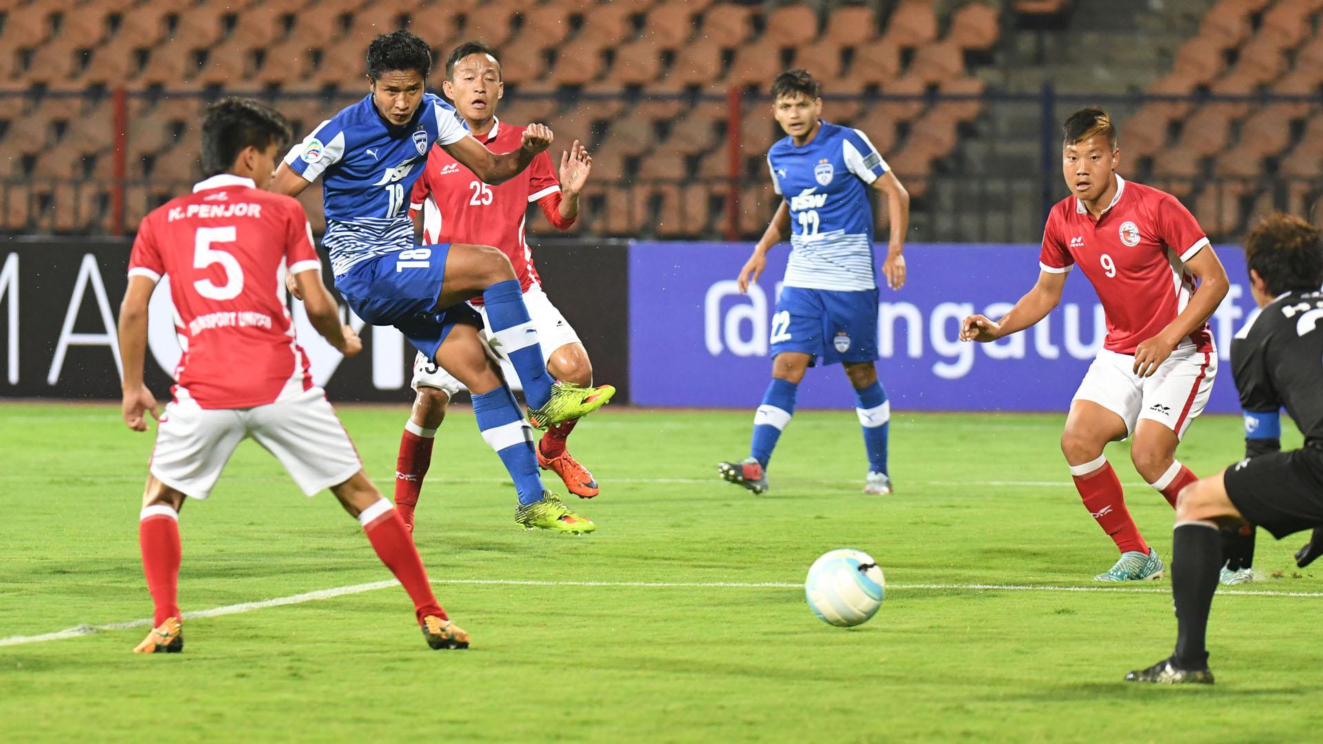 Thongkhosiem Haokip Bengaluru FC Transport United AFC Cup Preliminary Round 2018