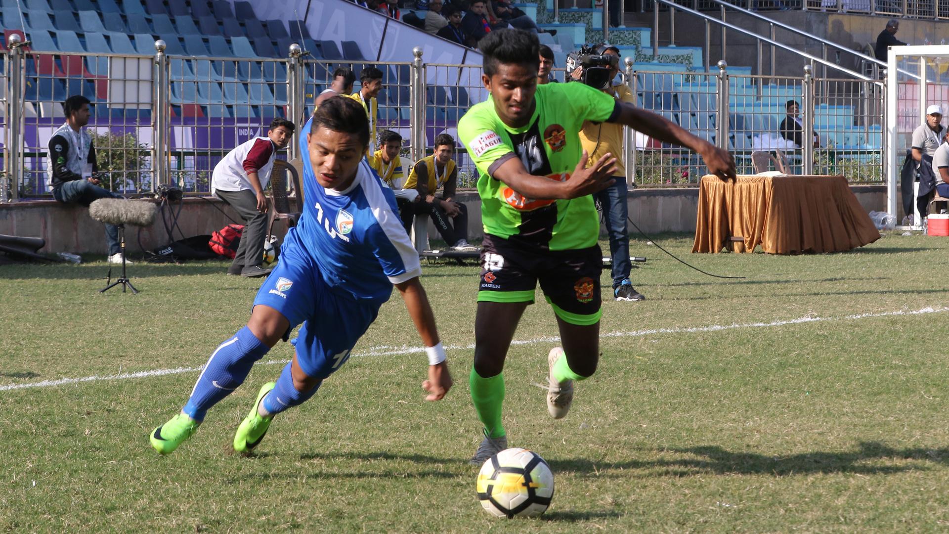 Edmund Lalrindika Arjun Jayaraj Indian Arrows Gokulam FC I-League 2017/2018