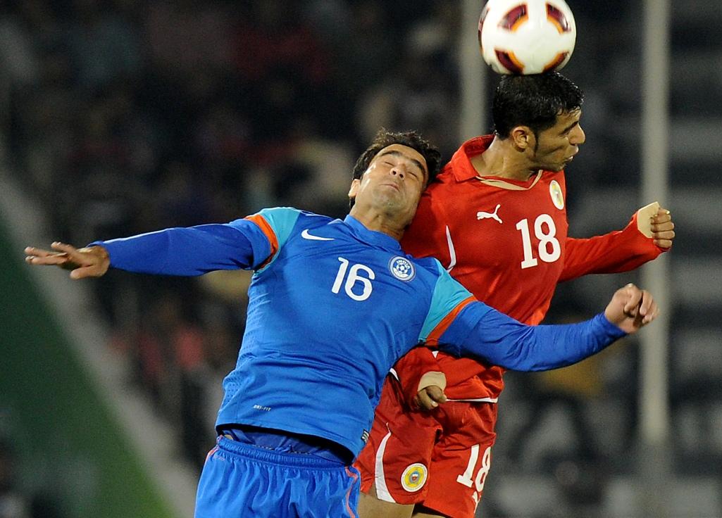 Mehrajuddin Wadoo Abdulwahab al-Safi India Bahrain 2011 Asian Cup 01142011