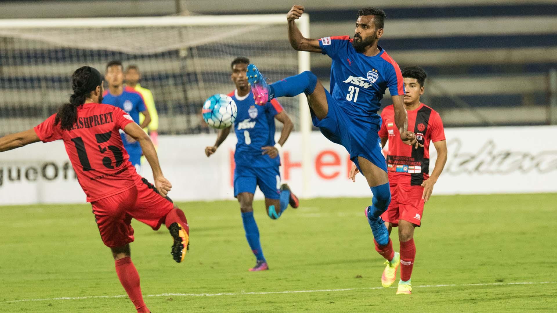 CK Vineeth Bengaluru FC Minerva Punjab FC I-League 2017