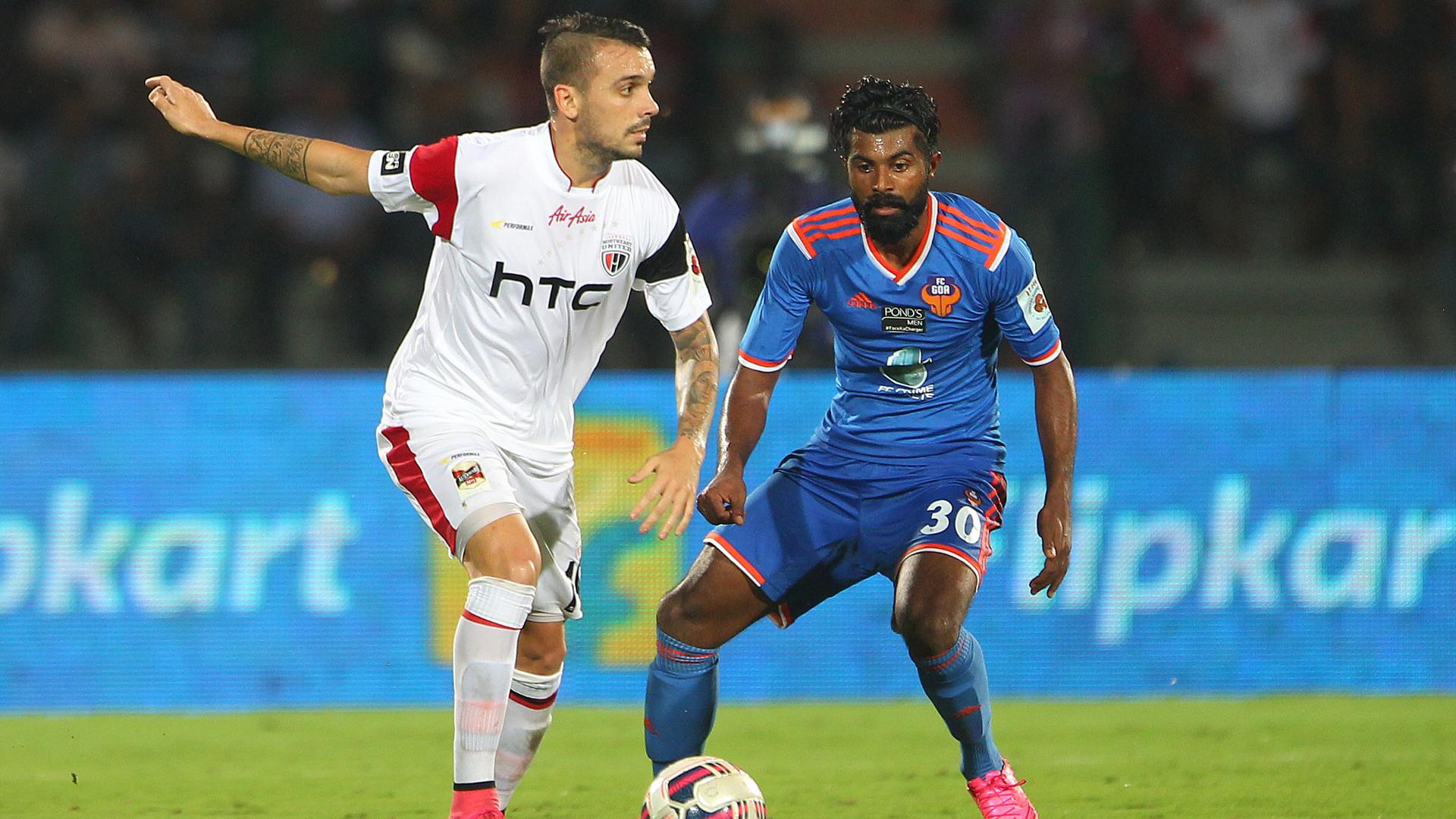 Nicolas Velez C.S Sabeeth NorthEast United FC FC Goa ISL season 2