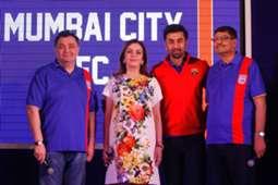 Rishi Kapoor Neeta Ambani Ranbir Kapoor Bimal Parekh Mumbai City FC Launch ISL