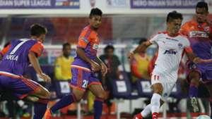Sunil Chhetri FC Pune City Bengaluru FC ISL 4 2017/2018