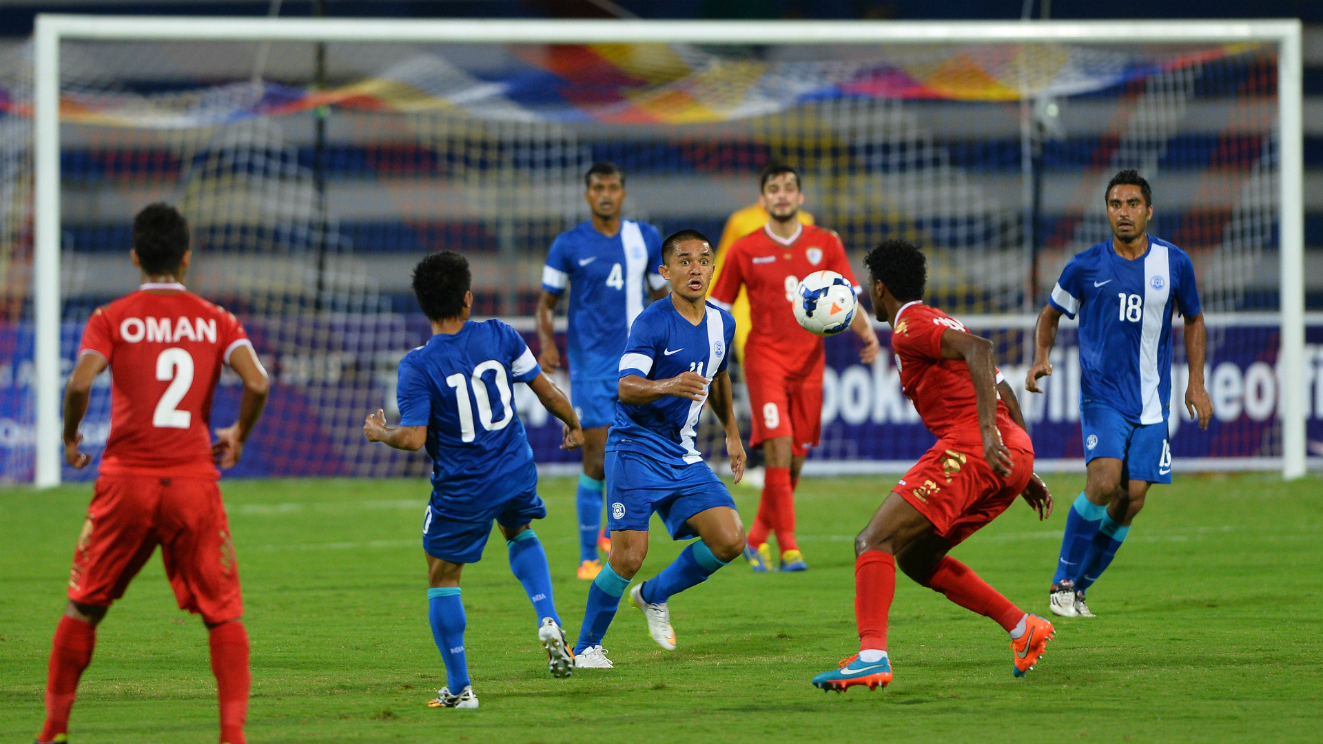 Sunil Chhetri India Oman WC Qualification Asia 06112015