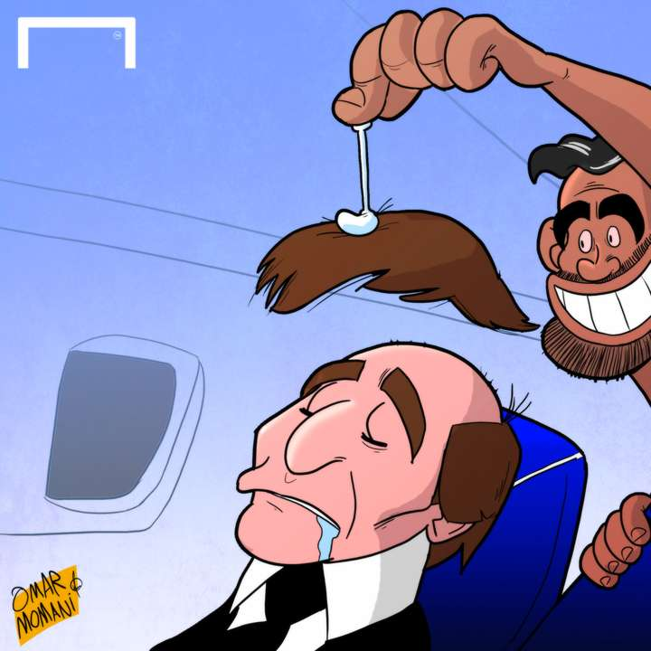 Cartoon Diego Costa's prank on Conte