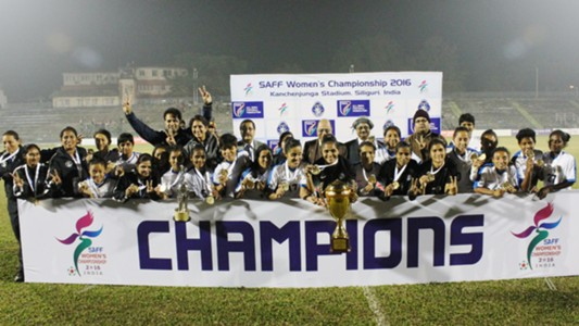 Indian Women National Team SAFF Women's Championship 2016 Champions
