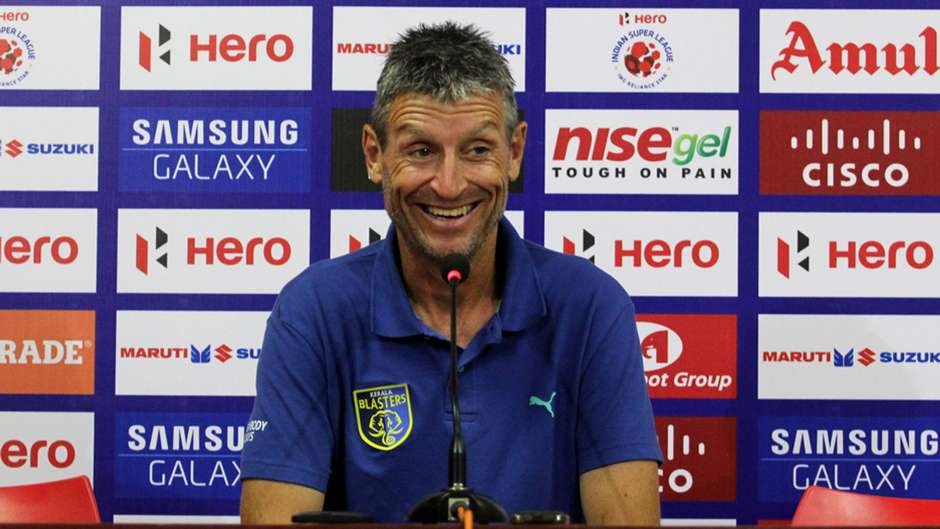 Kerala Blasters FC assistant coach Trevor Morgan after the ISL match press conference