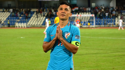 Sunil Chhetri India Kyrgyzstan Asian Cup Qualifier 2017