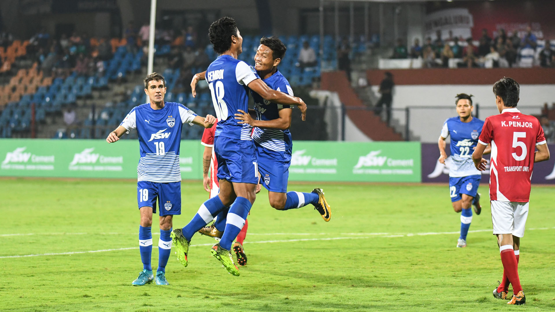 Boithang Haokip Bengaluru FC Transport United AFC Cup Preliminary Round 2018