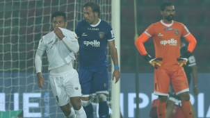 Seiminlen Doungel NorthEast United FC Chennaiyin FC ISL 4 2017/2018