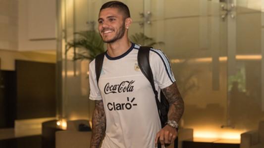 Mauro Icardi Argentina Football Team in Singapore