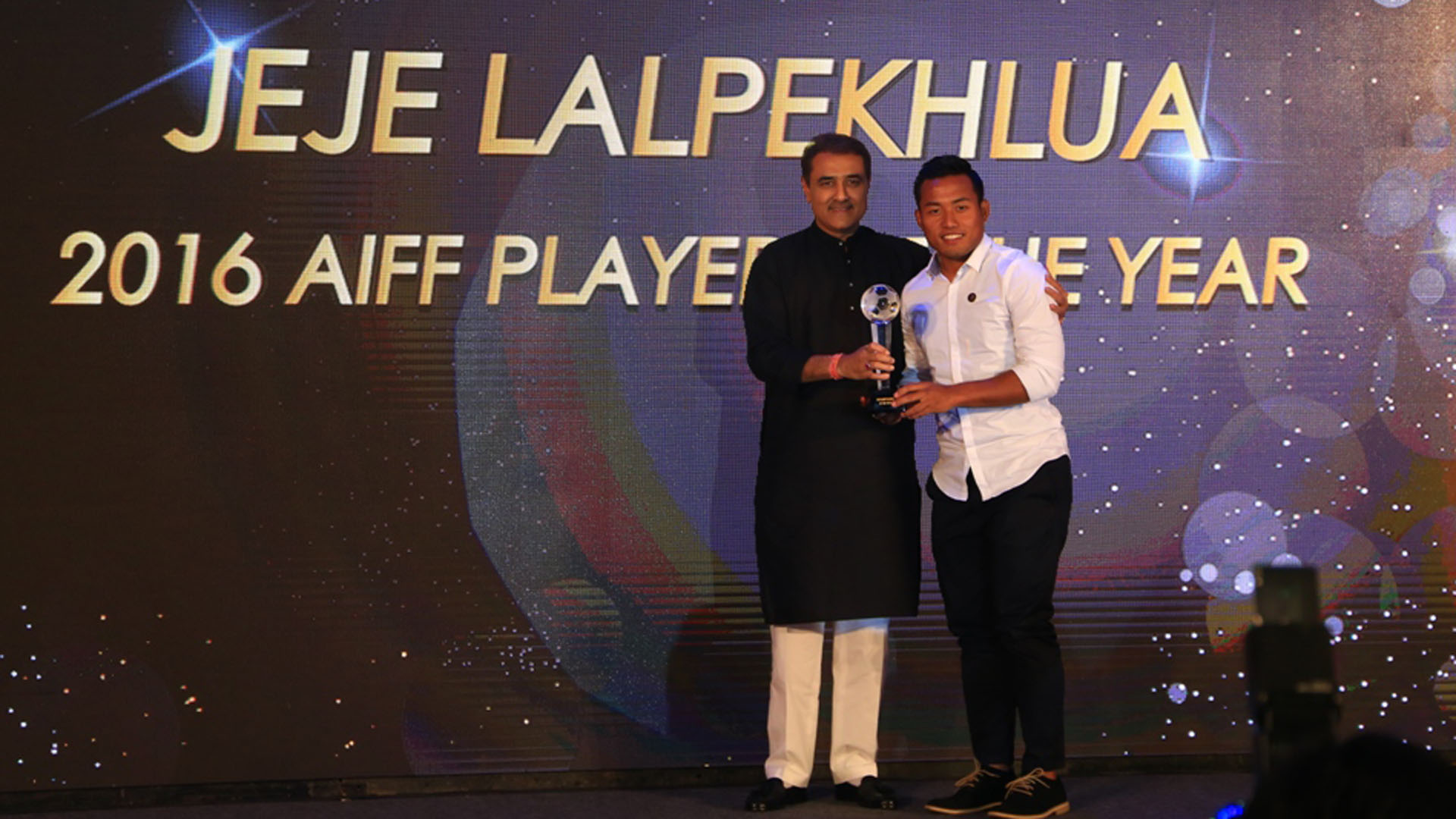 Jeje Lalpekhlua AIFF Awards Night 2017