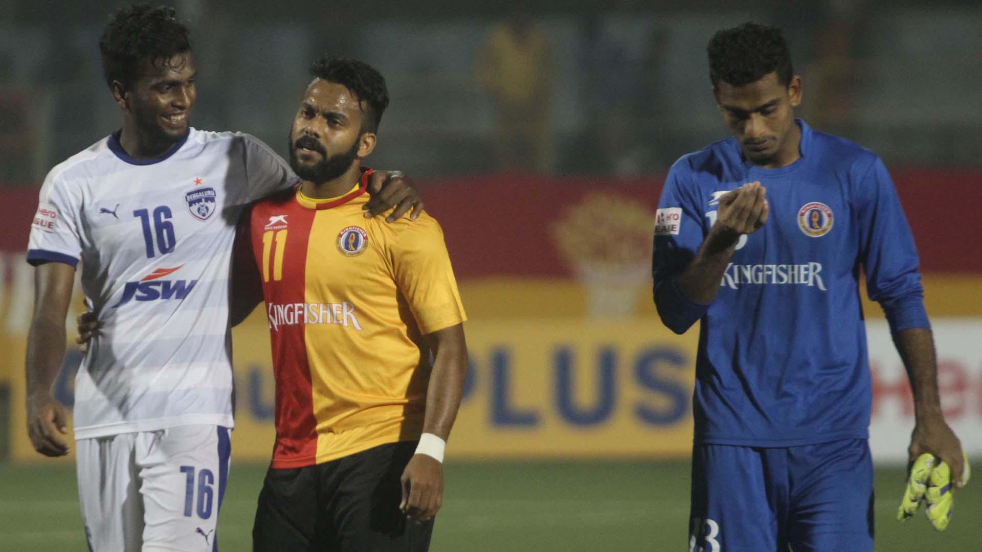 Shankar Sampingiraj Cavin Lobo East Bengal Bengaluru FC I-League