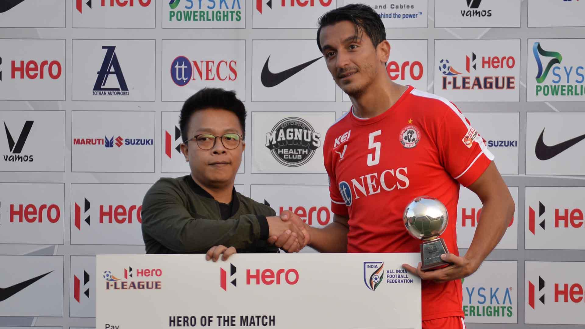 Masih Saighani Aizawl FC Churchill Brothers I-League 2017/2018