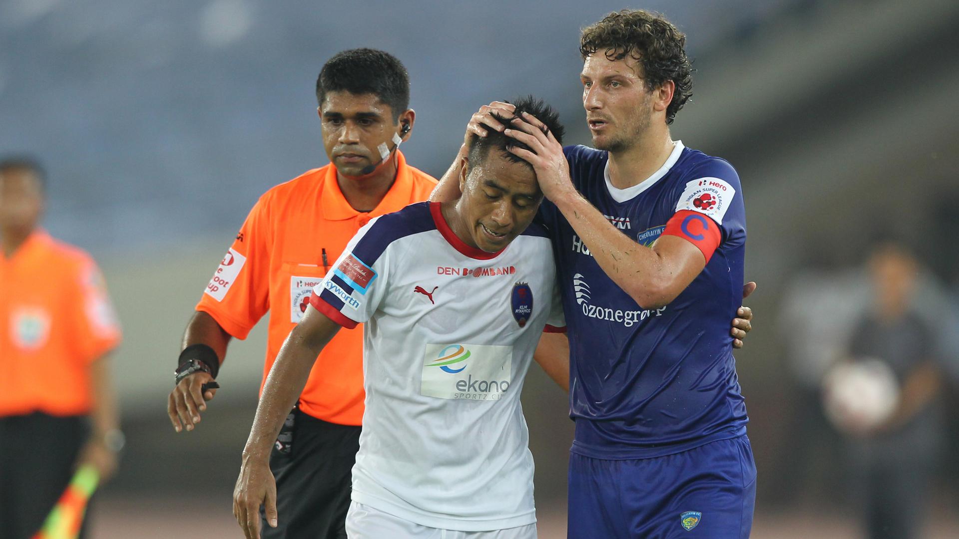 Shylo Malsawmtluanga Elano Blumer Delhi Dynamos FC Chennaiyin FC ISL season 2 08102015